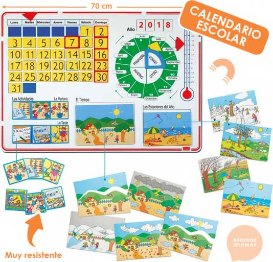 Calendario magnético gallego 70x50 cm