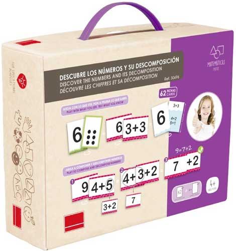 Descubre los números y su descomposición detalle de la caja