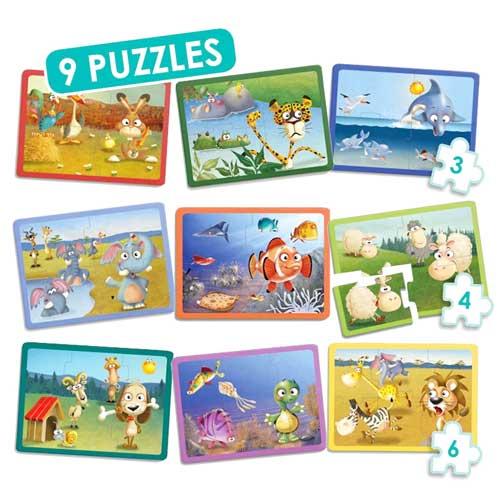Set puzzles animales