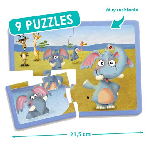 Set puzzles animales detalle 1