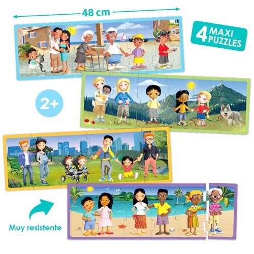 Set puzzles familias del mundo actual