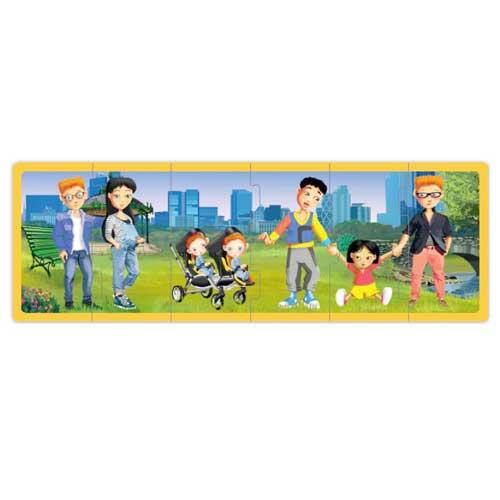 Set puzzles familias del mundo actual  detalle 2