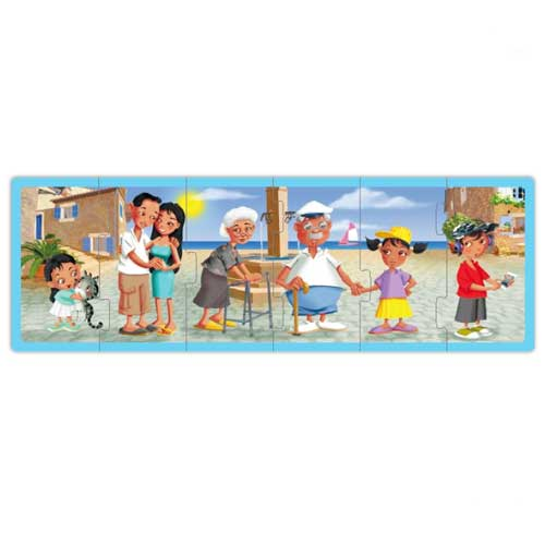 Set puzzles familias del mundo actual  detalle 4