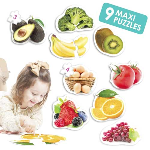 Maxi puzzles alimentos sanos