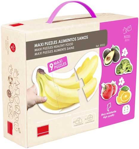 Maxi puzzles alimentos sanos detalle de la caja