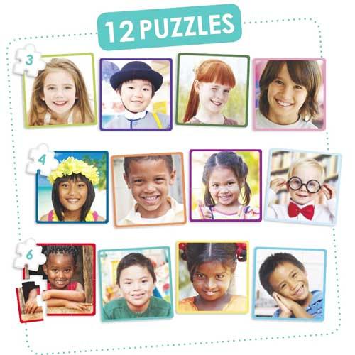 Set 12 puzzles - niños felices del mundo