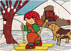 Puzzle Zaro en invierno