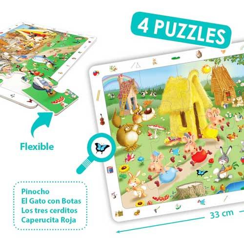 Set puzzles observación - cuentos clásicos