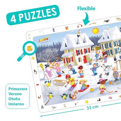 Set puzzles observación - Las 4 estaciones