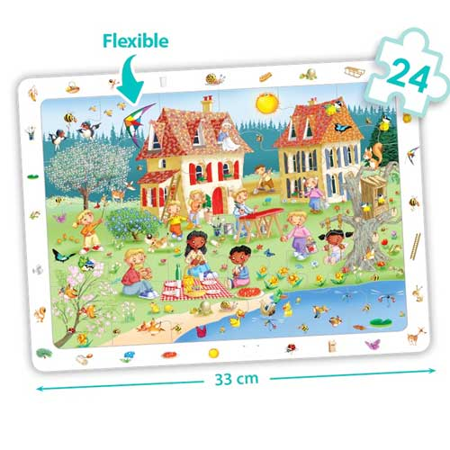 Set puzzles observación - Las 4 estaciones detalle 1