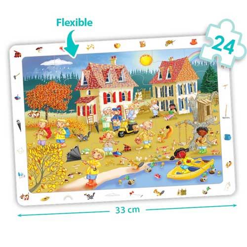 Set puzzles observación - Las 4 estaciones detalle 2