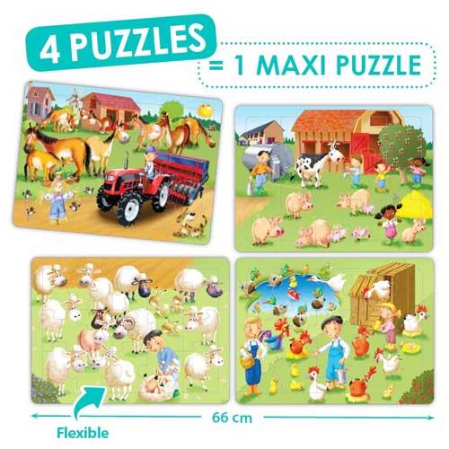 Set puzzles cooperativos - La granja