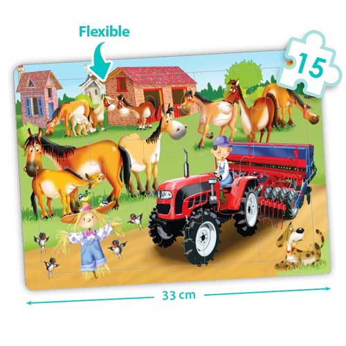 Set puzzles cooperativos - La granja detalle 1