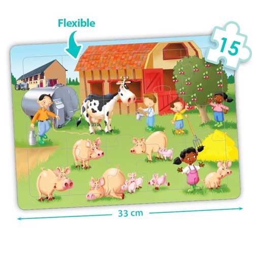 Set puzzles cooperativos - La granja detalle 2