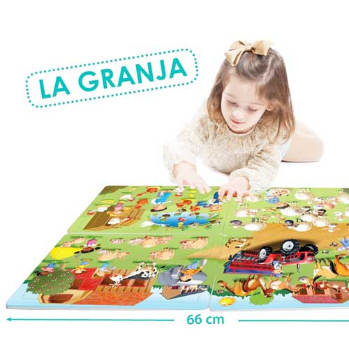 Set puzzles cooperativos - La granja detalle 5