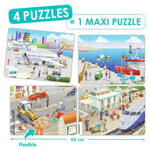 Set puzzles cooperativos - La ciudad