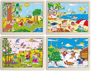 Set puzzles las 4 estaciones