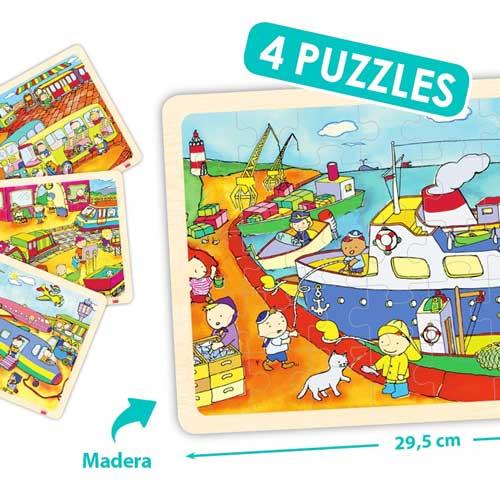 Set puzzles transportes