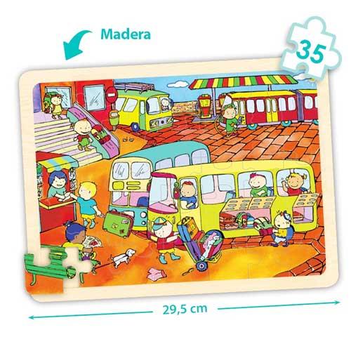 Set puzzles transportes detalle 1