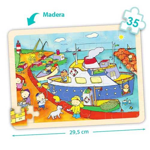 Set puzzles transportes detalle 3