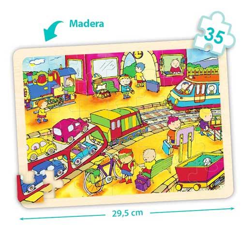 Set puzzles transportes detalle 4