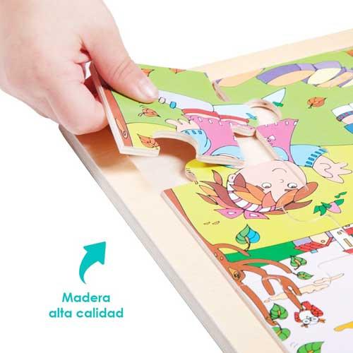 Set puzzles transportes detalle 5