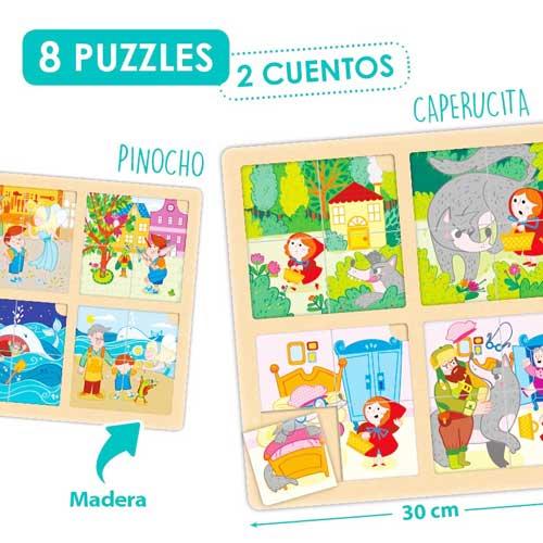 Set puzle-secuencias: Caperucita y Pinocho
