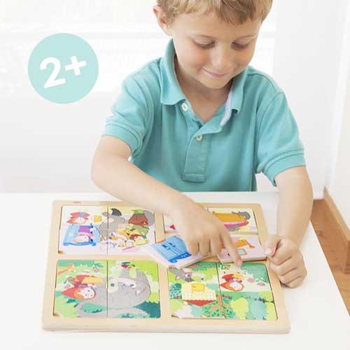 Set puzle-secuencias: Caperucita y Pinocho detalle 1