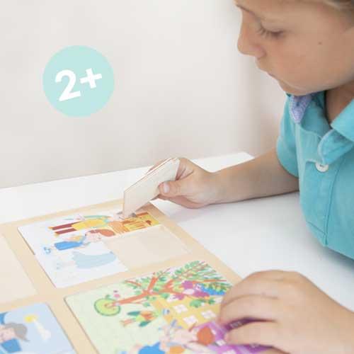 Set puzle-secuencias: Caperucita y Pinocho detalle 2