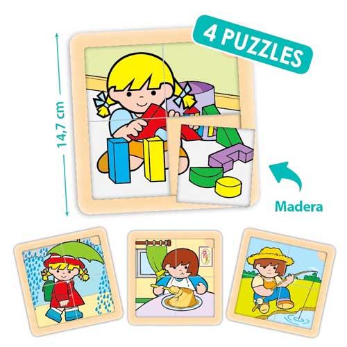 Set puzzles Zaro y Nita 4 piezas