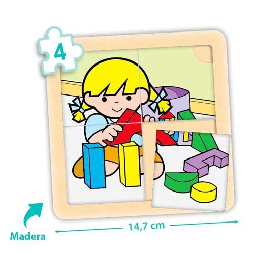 Set puzzles Zaro y Nita 4 piezas detalle 3