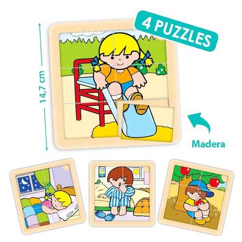 Set puzzles Zaro y Nita 6 piezas