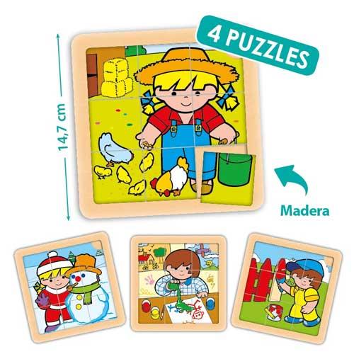 Set puzzles Zaro y Nita 9 piezas