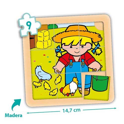 Set puzzles Zaro y Nita 9 piezas detalle 2