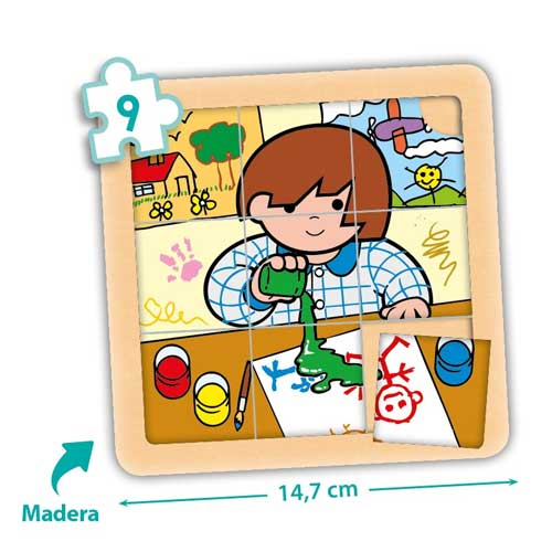 Set puzzles Zaro y Nita 9 piezas detalle 3