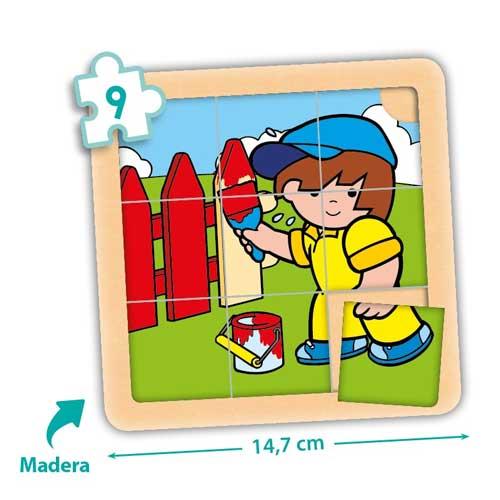 Set puzzles Zaro y Nita 9 piezas detalle 4