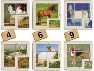 Puzzles animales granja