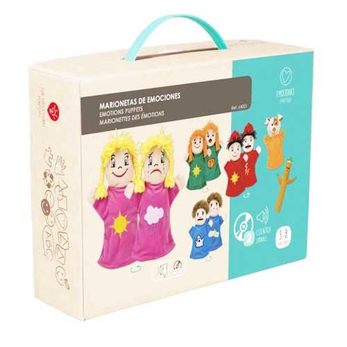 Marionetas emociones + CD detalle de la caja