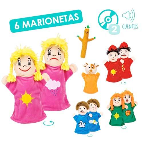 Marionetas emociones + CD