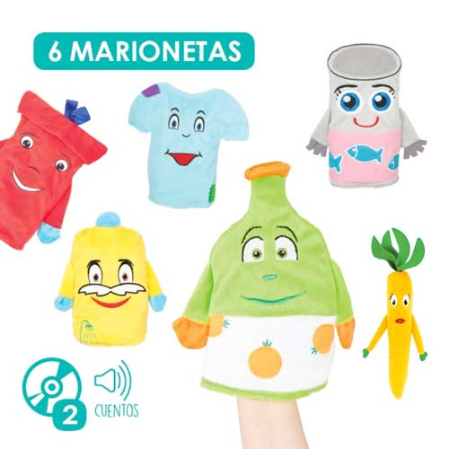 Marionetas Reciclado + CD