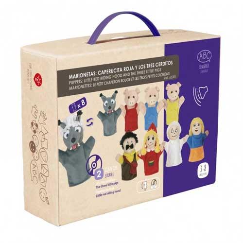 Marionetas clásicas + CD detalle de la caja
