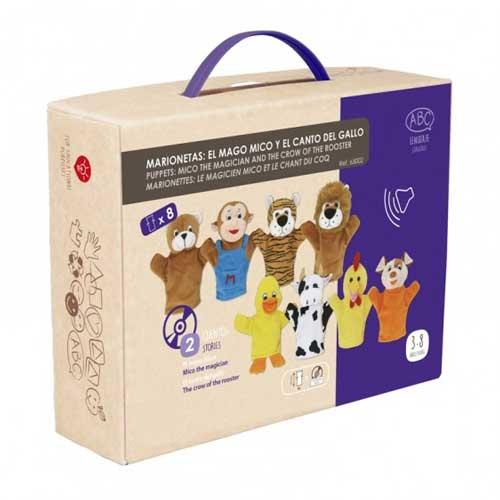 Marionetas animales + CD detalle de la caja
