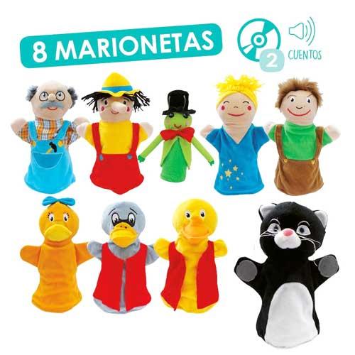 Marionetas: Pinocho y El patito feo