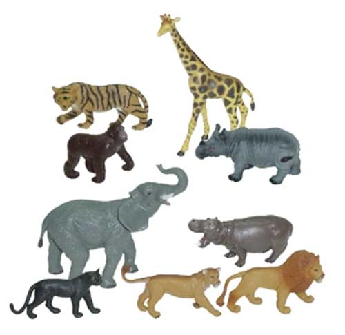 Animales selva 9 ud. detalle 2