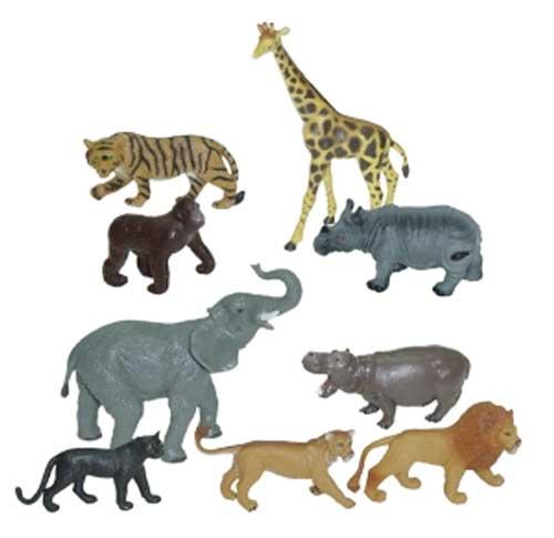 Animales selva 9 ud.
