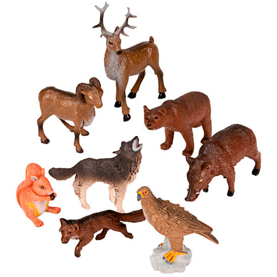 Animales bosque 8 ud. detalle 3