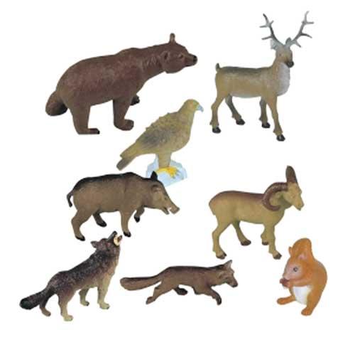 Animales bosque 8 ud.