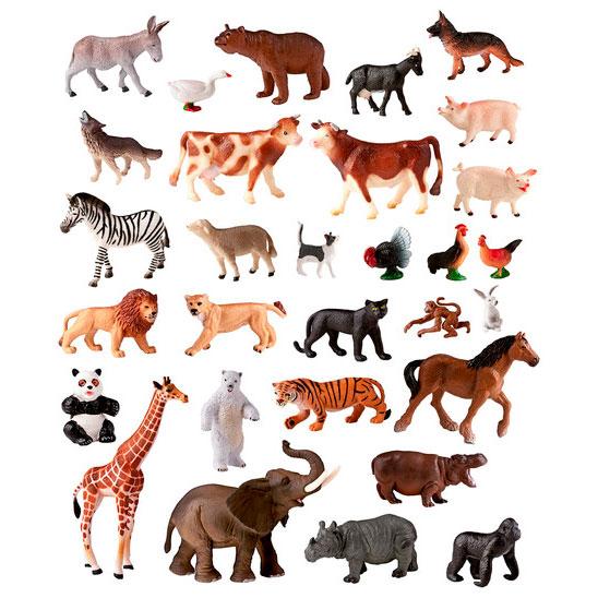 Animales granja y selva 30 ud. detalle 2