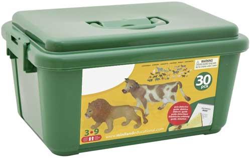 Animales granja y selva 30 ud. detalle de la caja