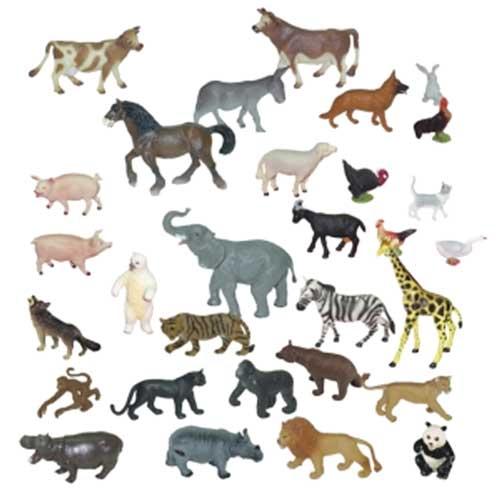 Animales granja y selva 30 ud.